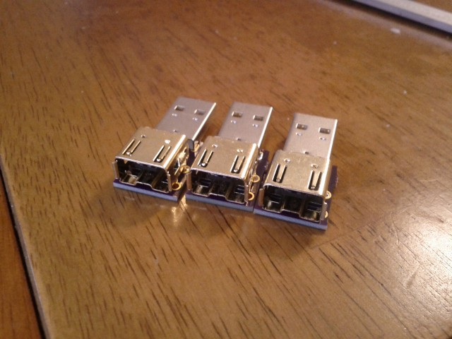 Wii on one end, USB on the other